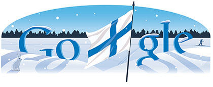 Google logo para el da de la independencia de Finlandia
