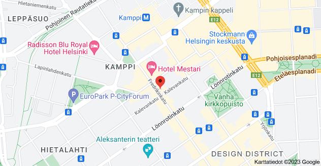Kohteen Fredrikinkatu 47, 00101 Helsinki kartta
